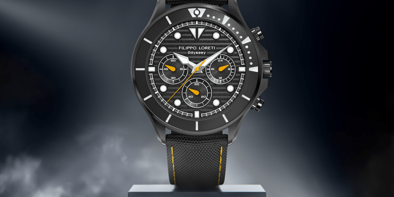 Odyssey Black Amber Racer Men's Watch from Filippo Loreti