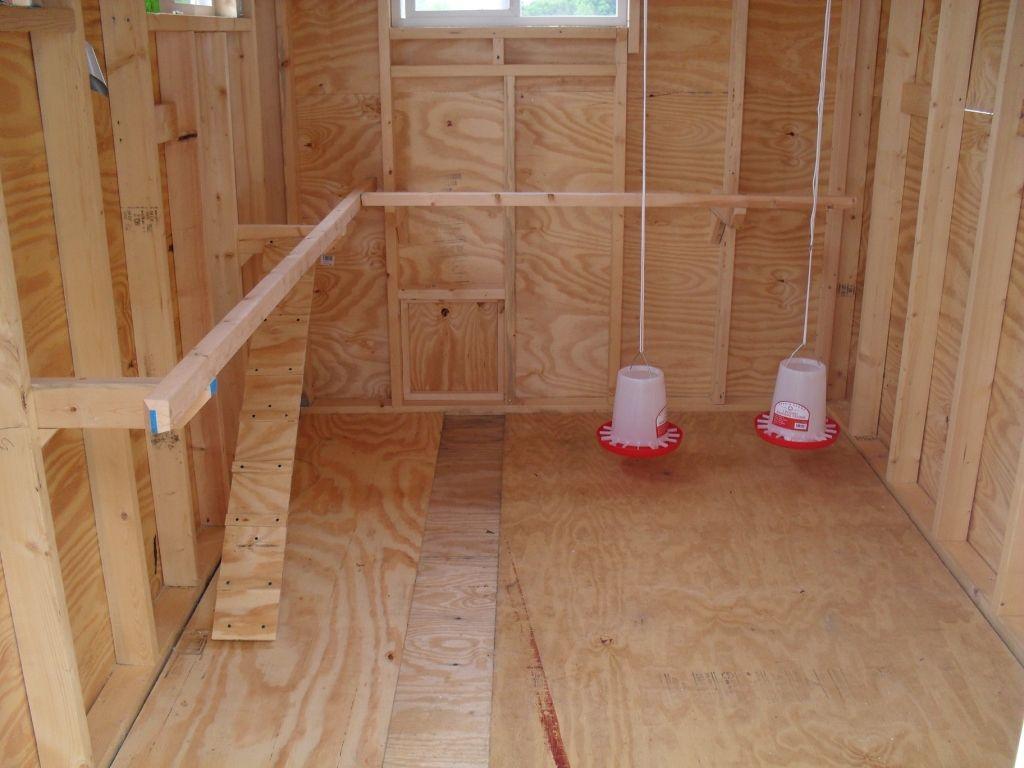 wood floor chicken coop