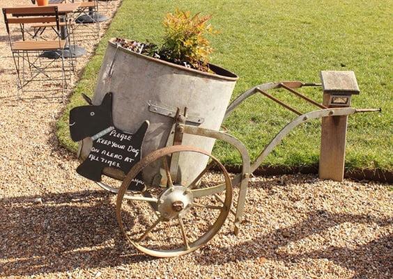 Circular Wheelbarrow Planter