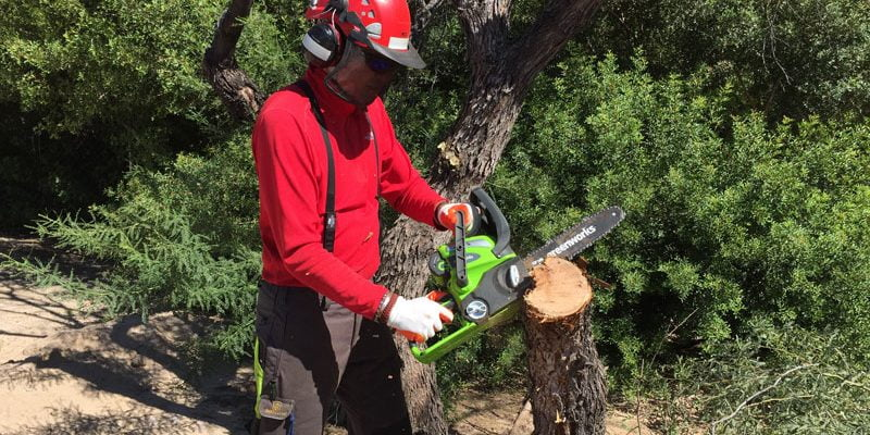 Greenworks 40V Chainsaw Review!