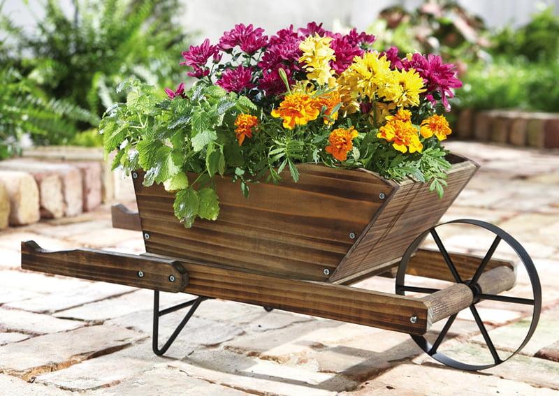 Ornamental Wooden Planter for Marigolds