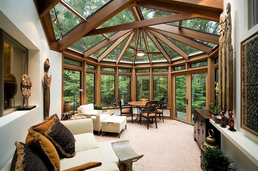 A sunroom of exceptionally strong timber framing and insulated glass_Home renovations Ottawa