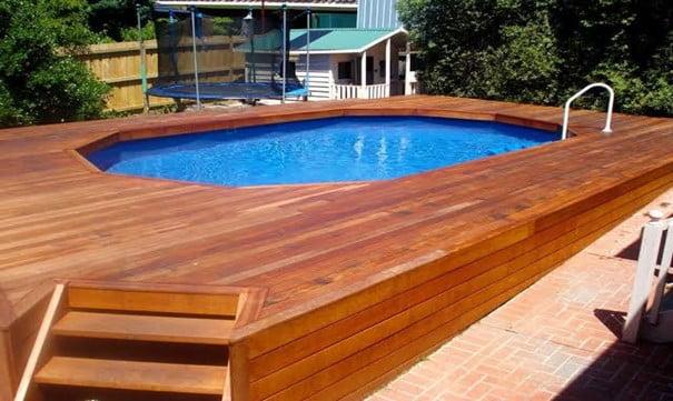 Custom Built Pool Deck