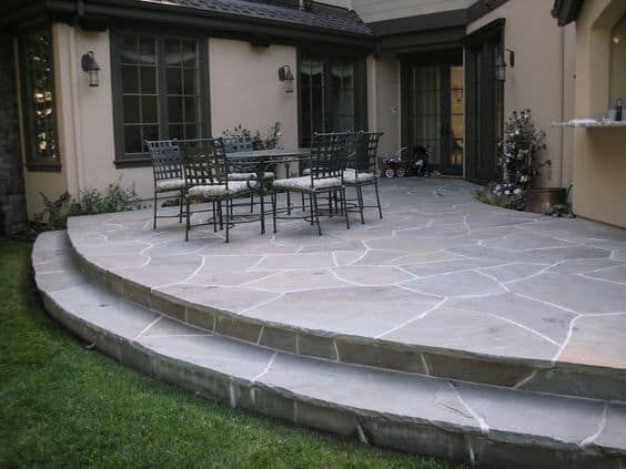 Flagstone Patio with A Dedicated Social Area