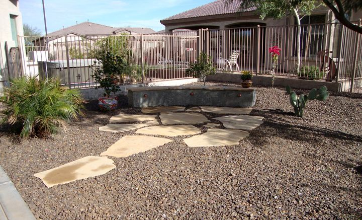 Flagstone Patio with A Desert Theme