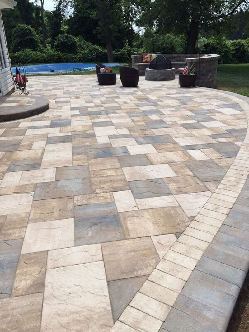 Flagstone Patio with Light Colours