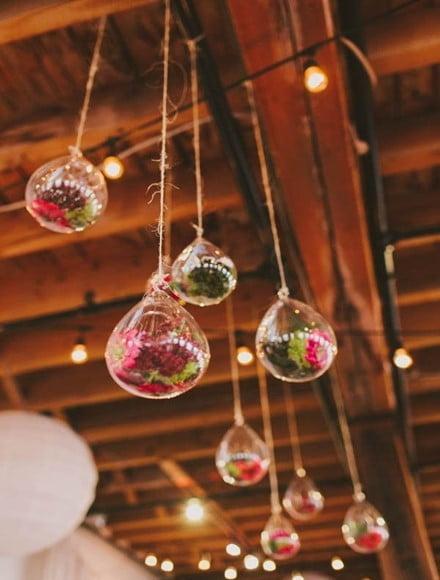 Multiple Hanging Bulb Terrarium