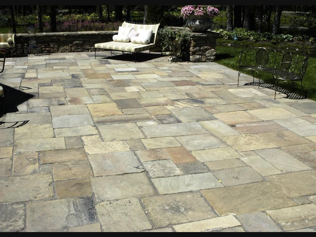 Only The 'Flagstone Patio'