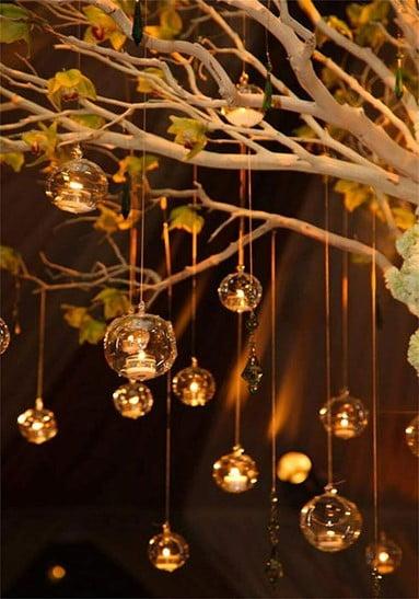 Tree Hanging Light Bulb Terrarium
