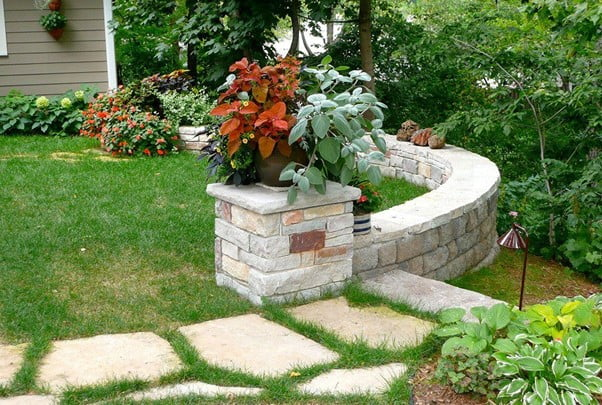 Walls of Stick and Stone for backyard