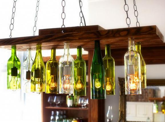 Wine Bottle Hanging Terrarium