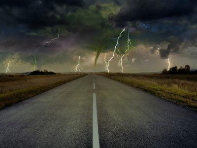 Highway, Road, Tornado, Lightning, Thunder, Storm