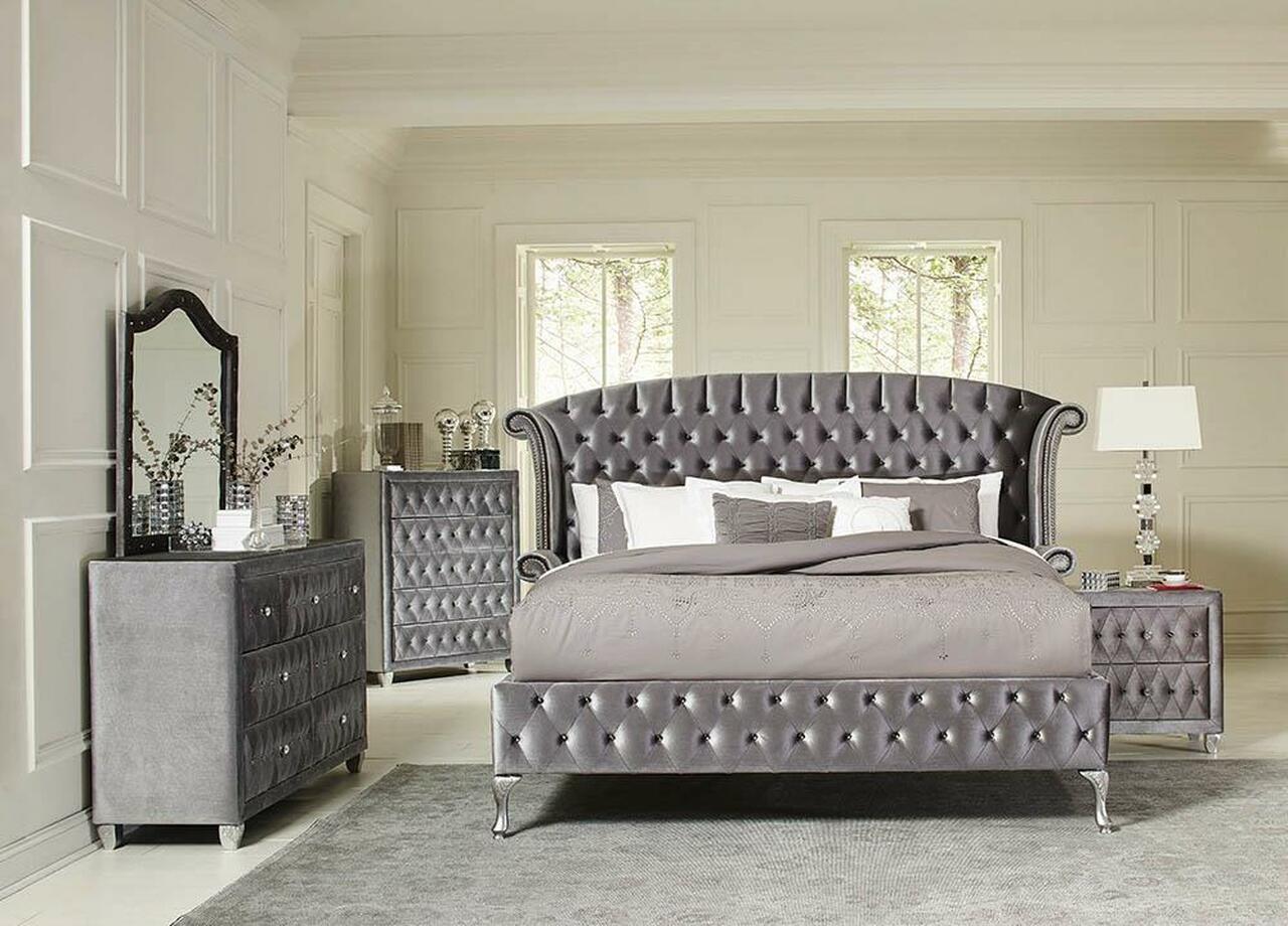2. A tufted upholstered bed_Altman Billiards