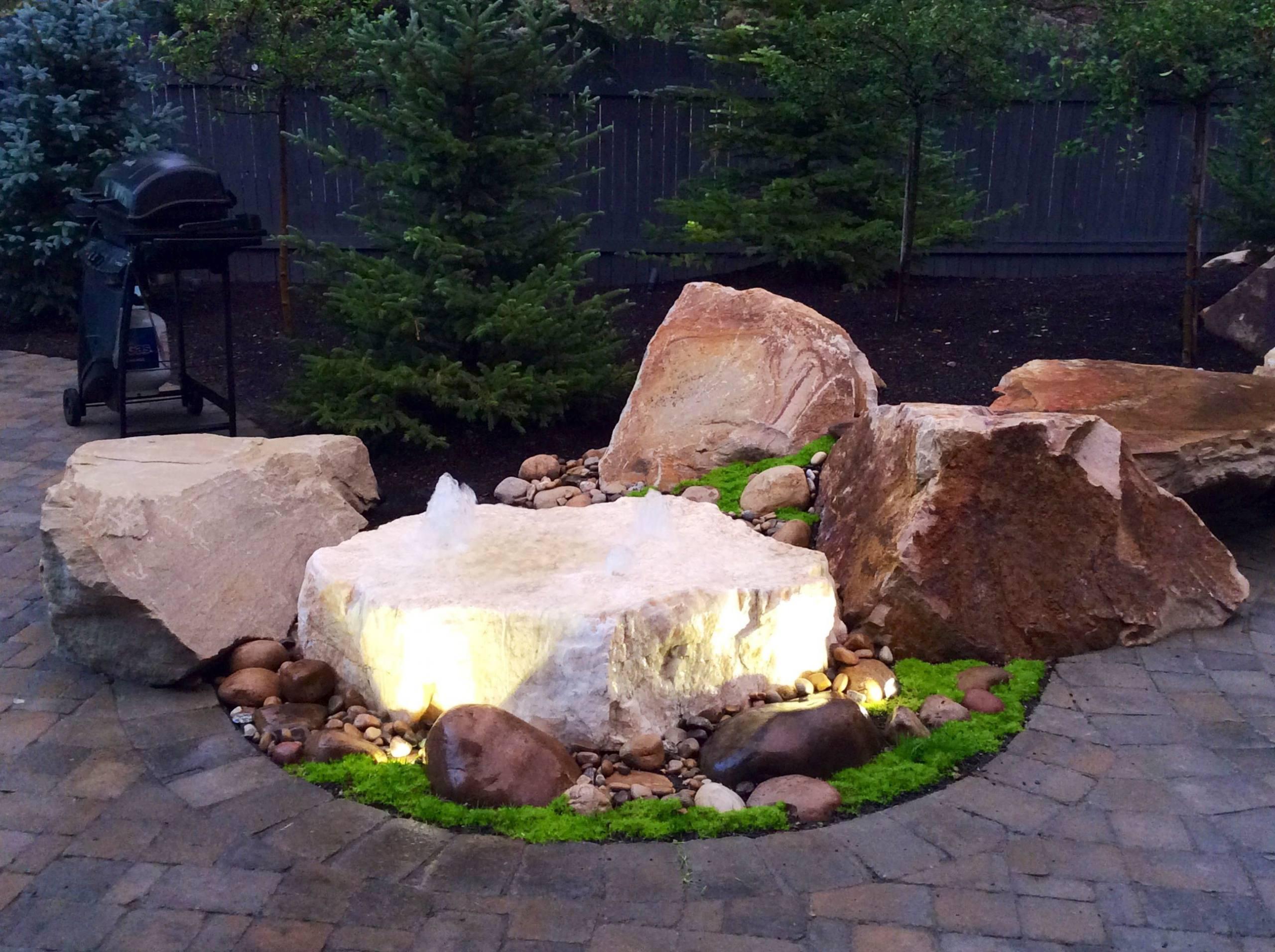 A Quartz rock fountain