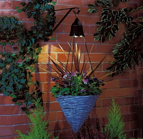 Angle Fence Planter with Light