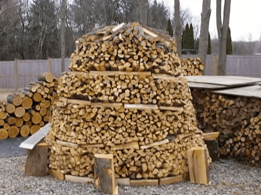 Holz Hausen Or Circular Firewood Pile