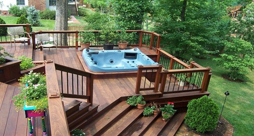 Location for Hot Tub with Decking