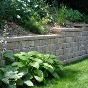 Retaining Wall Backyard