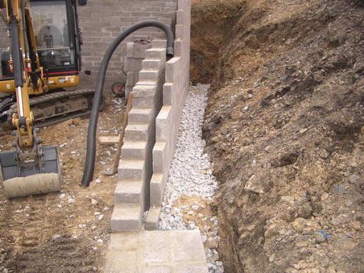 Retaining Walls Install Drainage