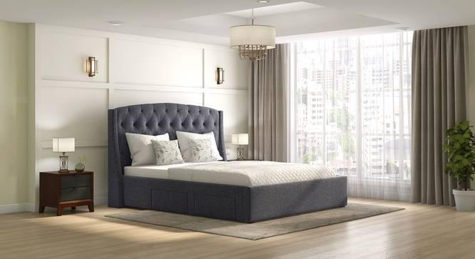 Upholstered Bed in Sunlight