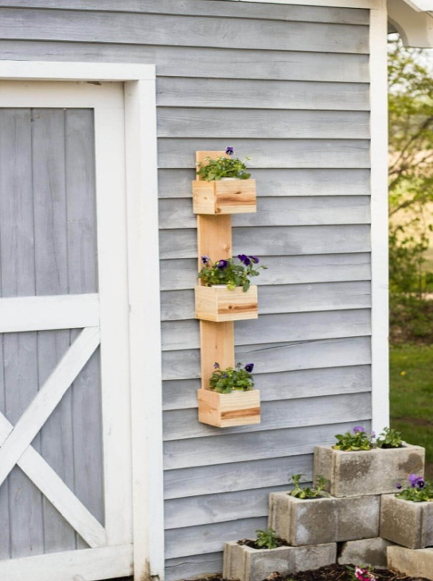 Wooden Picket Fence Planter