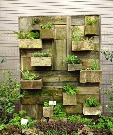 Wooden Rack Fence Planter