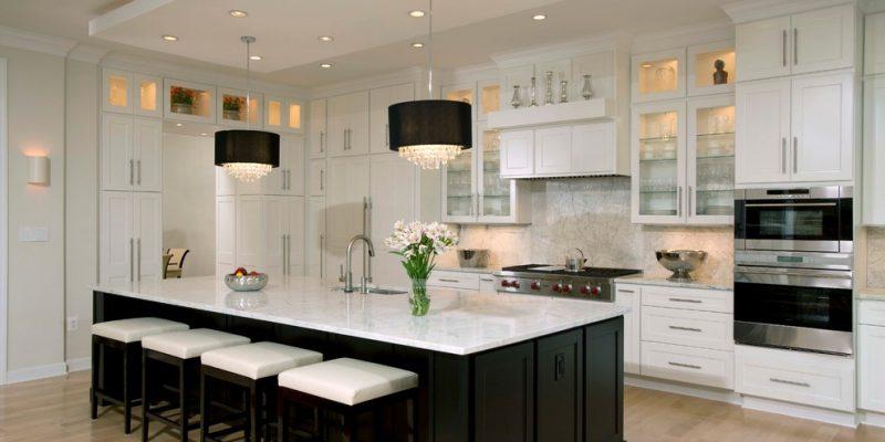 A Kitchen in Black & White - Contemporary - Kitchen - DC Metro - by Michael Nash Design, Build & Homes   Houzz