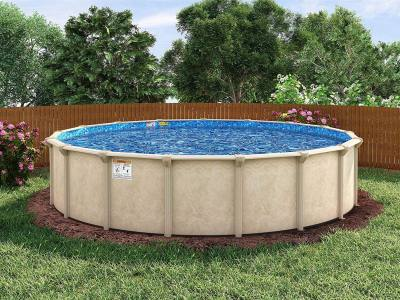 above ground pool fence idea