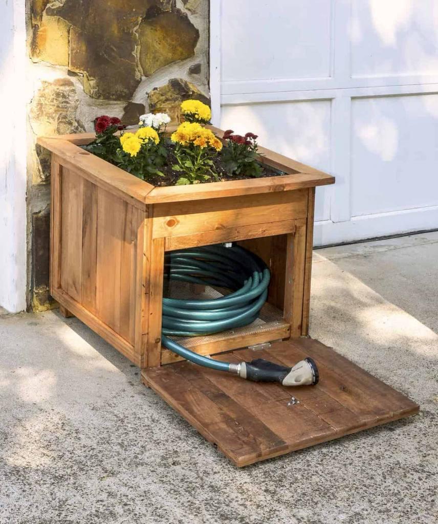 DIY Wooden Box for hose storage