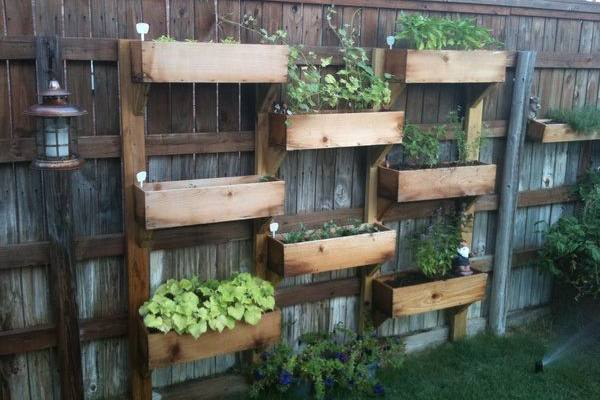 Fence Mounted Planter Boxes