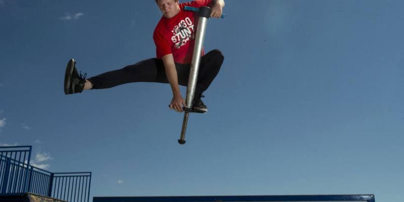 Jumping on Pogo Stick