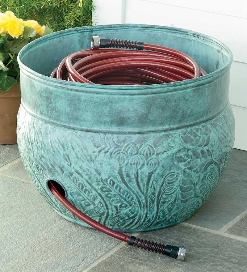 Make A Little Hose Storage Pot