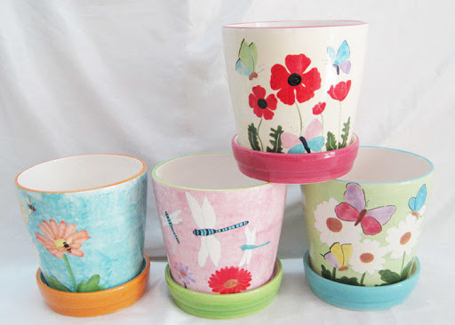 Pots with Attached Saucers