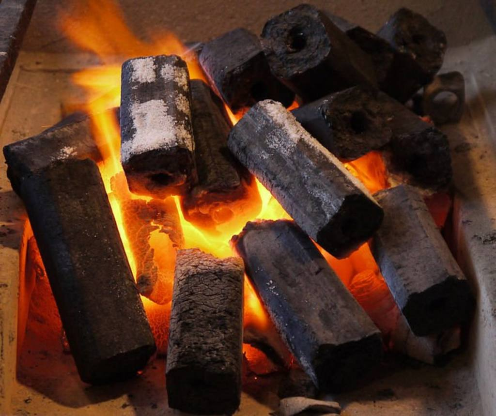 Used Charcoal Briquette