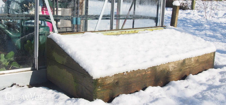 Wipe Off All the Ice from The Top of The Cold Frame