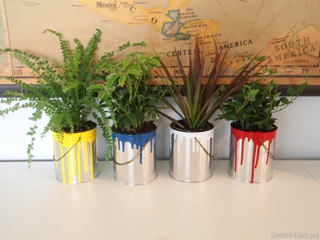 DIY Old Paint Cans Planter
