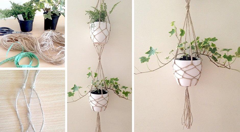 DIY Vertical Single Plant Hanger