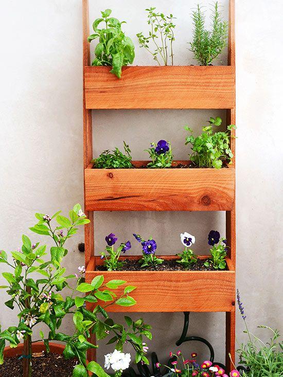 DIY Vertical and Horizontal Flower Ladder Garden