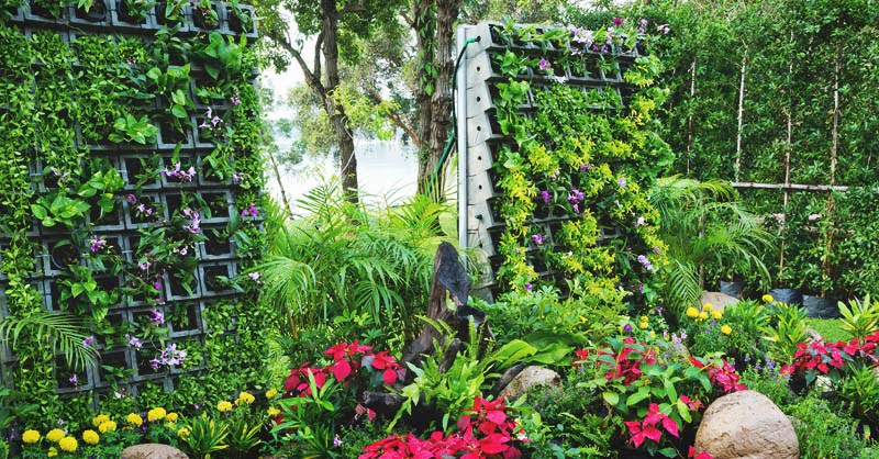 DIY Vertical and Horizontal Garden with Dripping Water System