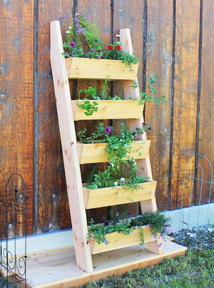 DIY Vertical and Horizontal Wall Ladder