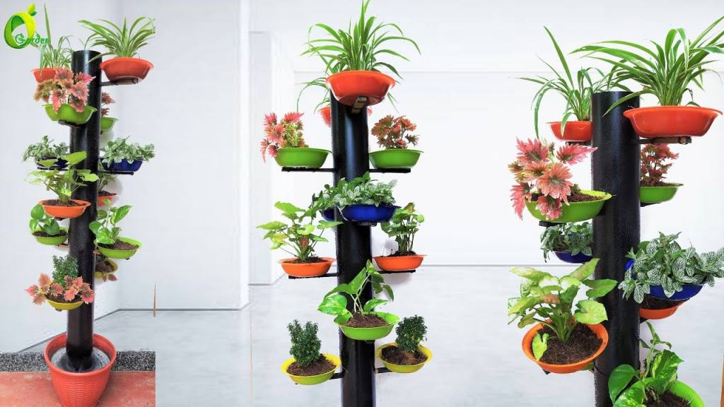 PVC Pipe Tower Garden