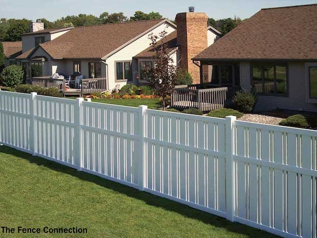 Simple Vinyl Privacy Fence