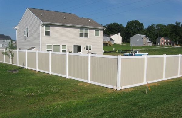 Two-Tone Vinyl Privacy Fence