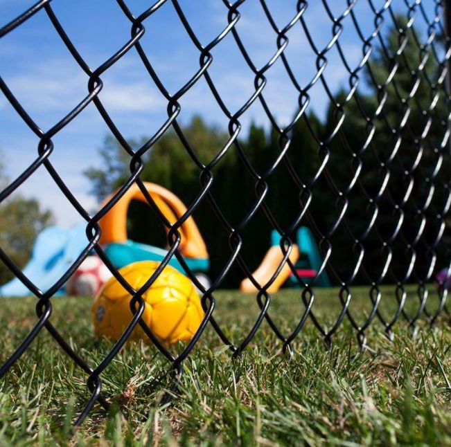 Chain Link Fencing coated with Polymer and PVC