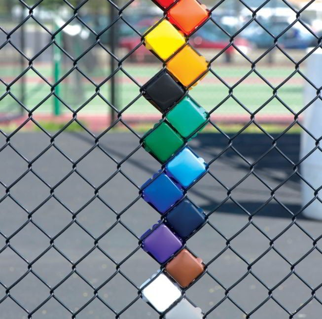 Colorful Chain Link Fencing
