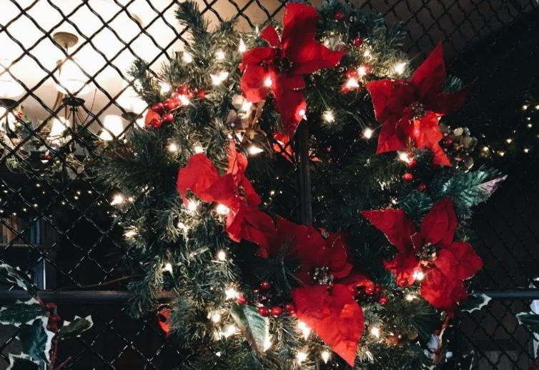 Decorating Chain Link Fencing with Ornaments