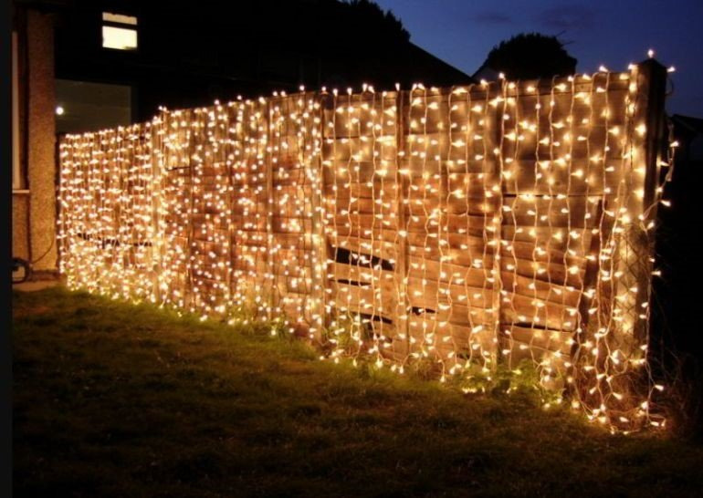 Glowing Chain Link Fencing