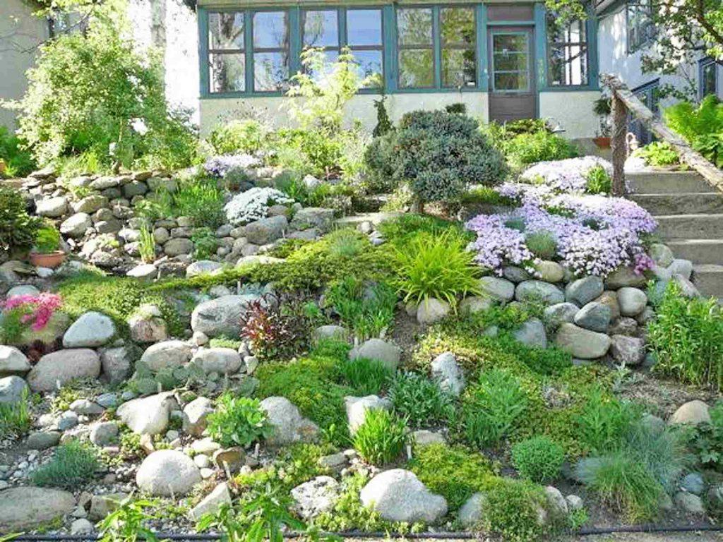 Natural Hillside Rock Garden