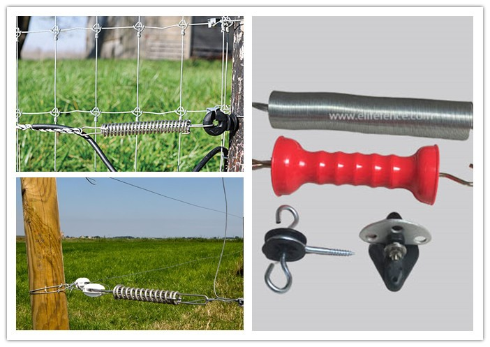 Spring Electric Fence Gate