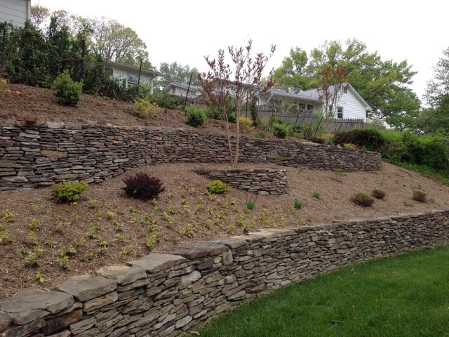 Terracing a Hillside with Stone